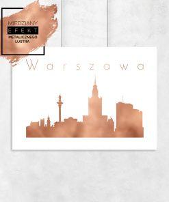 plakat na ścianę z miastem Warszawa