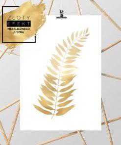 złoty listek na plakacie