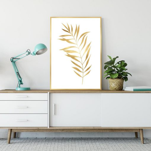 liść palmy na plakacie
