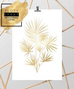 złote liście na plakiecie