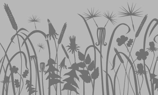 naklejka z roślinami