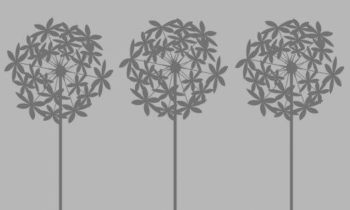 folia piaskowana z dmuchawcami