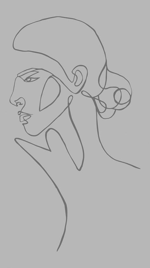 samoprzylepny obrys twarz kobiety
