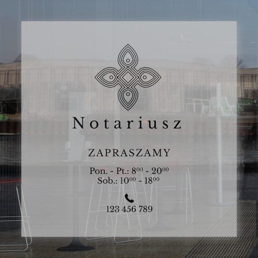 naklejka na drzwi dla notariusza