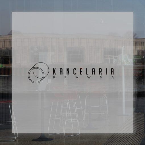 naklejka z logo kancelarii prawnej