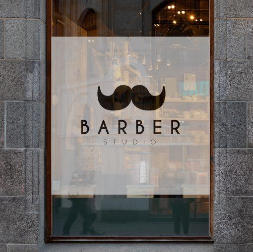 naklejki z logo studio barbera
