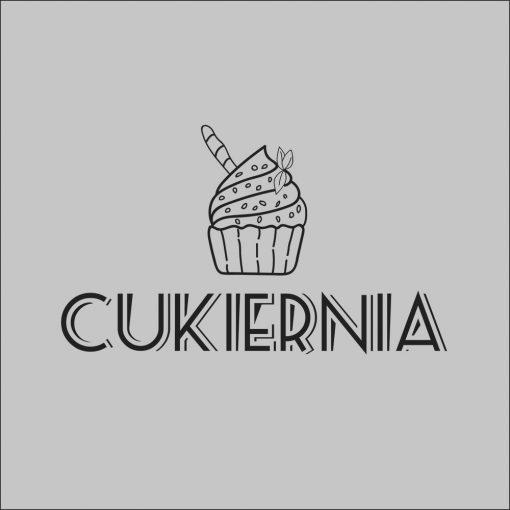 naklejka z logo dla cukierni