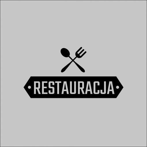 naklejka z logo restauracji