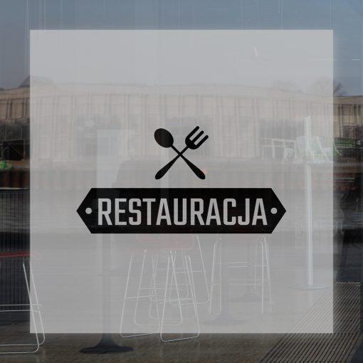 folia z logo restauracji
