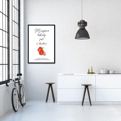 plakat miejsce kobiety jest w kuchni