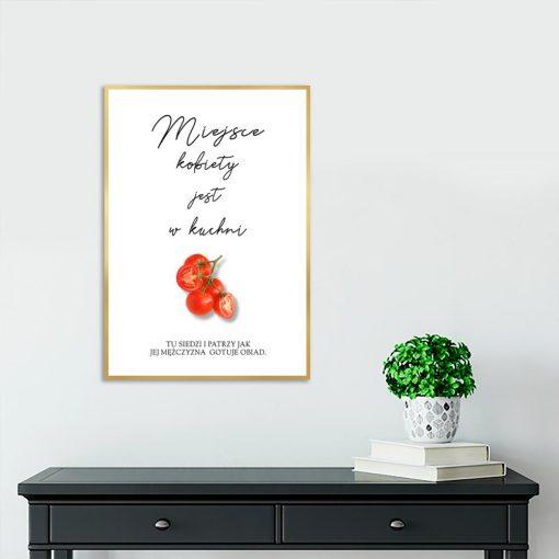 plakat napis i pomidory
