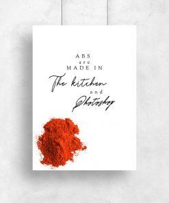 plakat pomarańczowy do kuchni