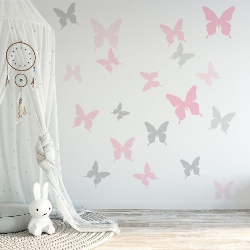 naklejka z motywem motylków