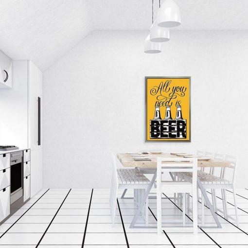 żółty plakat piwo