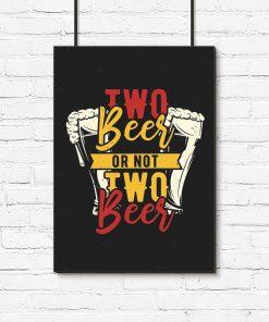 plakat z piwem