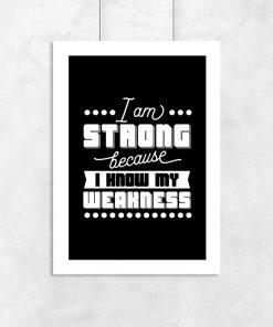plakat i am strong