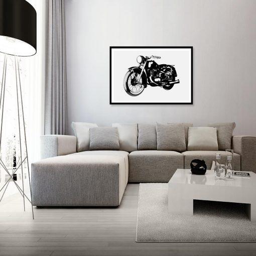 plakat radziecki motocykl