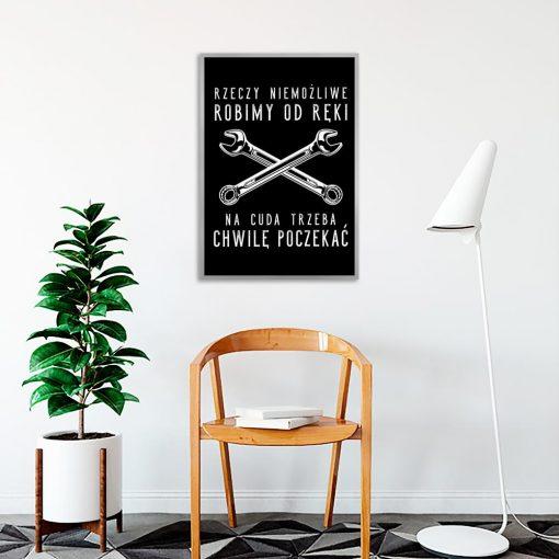 czarno-biały plakat motoryzacja