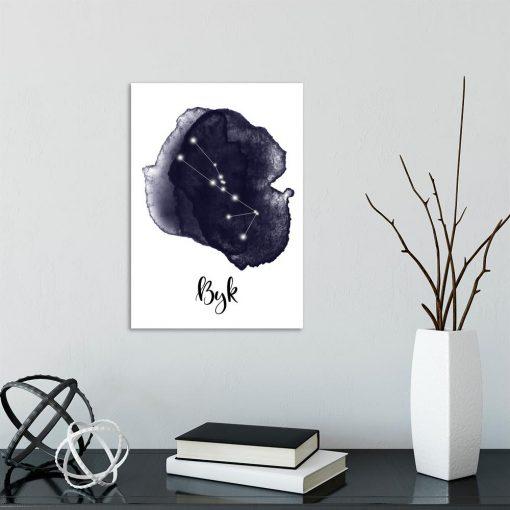 plakat zodiak byka