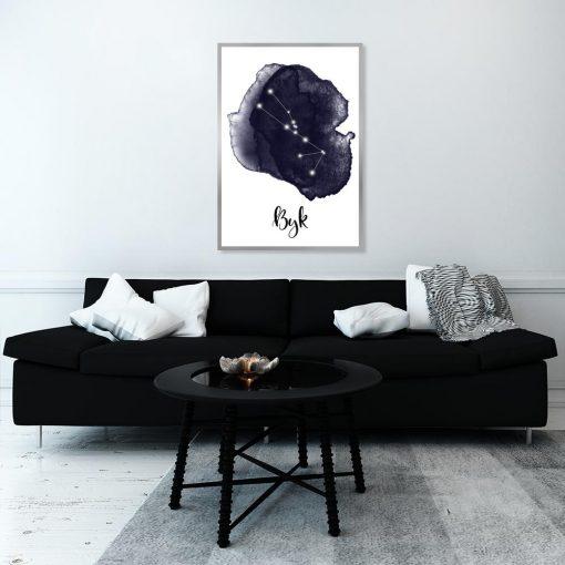 plakat znak zodiaku byka
