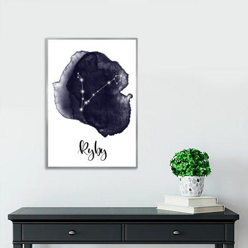 plakat z zodiakiem ryb