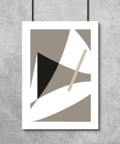 plakat z motywem abstrakcyjnym