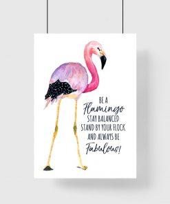 plakat be a flamingo