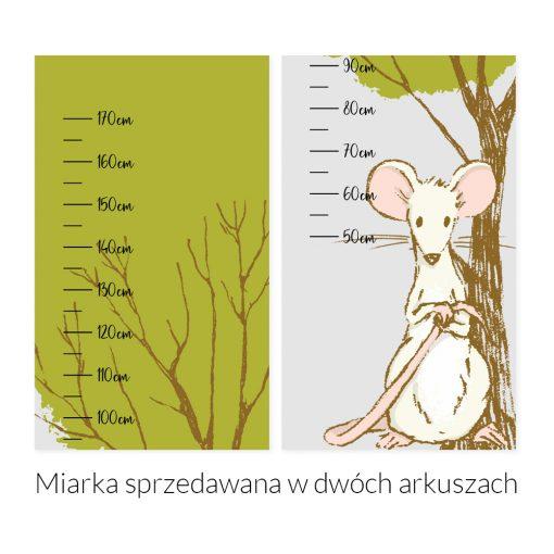 naklejka miarka wzrostu i myszka