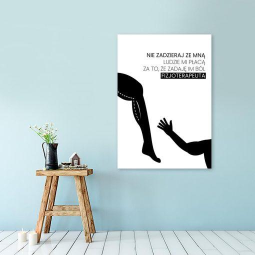 plakat z motywem fizjoterapii