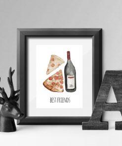 plakat z motywem pizzy