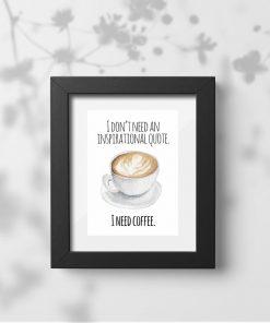 plakat dla fanów kawy