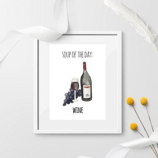 humorystyczny plakat z winem po angielsku