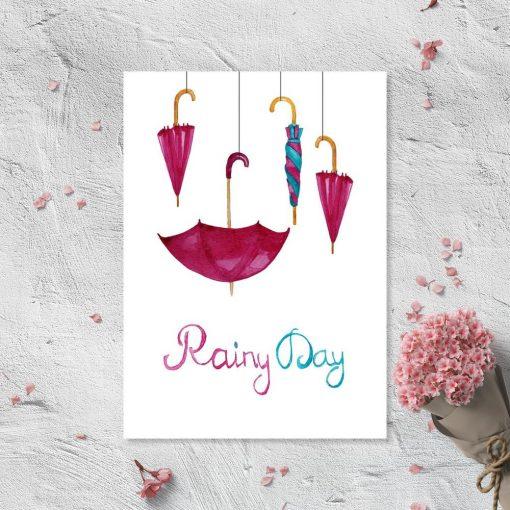 Dekoracja do ramy z motywem parasoli