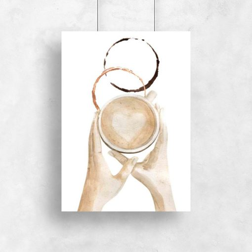 plakat z kawą
