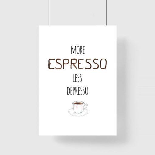 espresso i depresso jako plakat pionowy