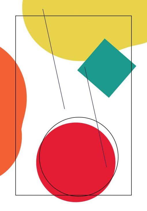 Kolorowe kształty na plakacie