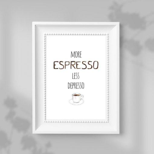 motyw espresso na plakacie do restauracji