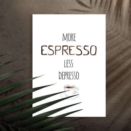 plakat ścienny o kawie espresso