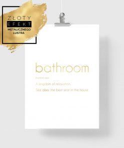 plakat z napisem o łazience