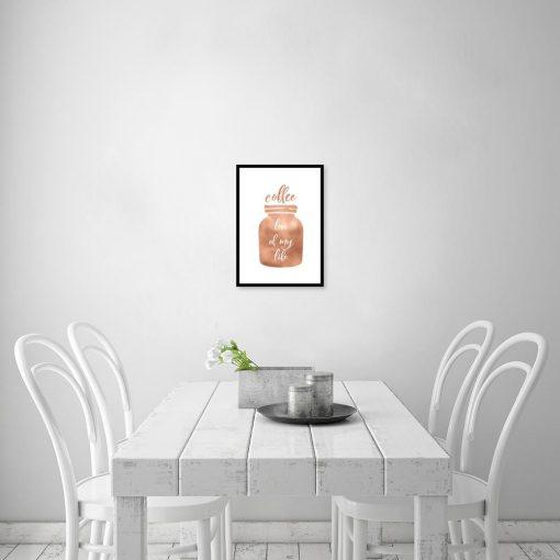 plakat z kawą do kuchni