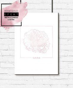 plakat z ilustracją kwiatka