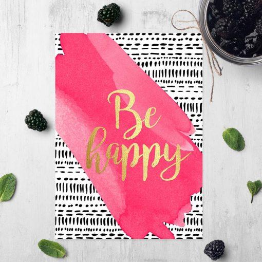 be happy jako dekoracja angielska