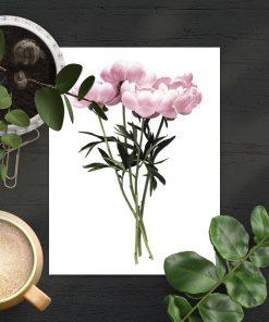 dekoracja różowa jako plakat