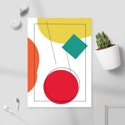 Plakat do oprawienia z kwadratem