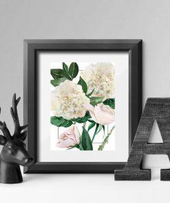 plakat z kwiatową grafiką