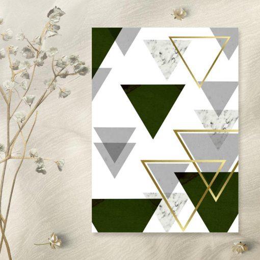 plakat z motywem marmurkowej abstrakcji