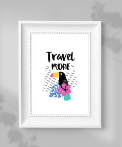 plakat z motywem podróży