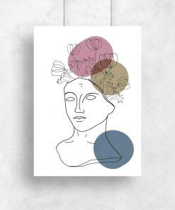 plakat z motywem abstrakcyjnych kół