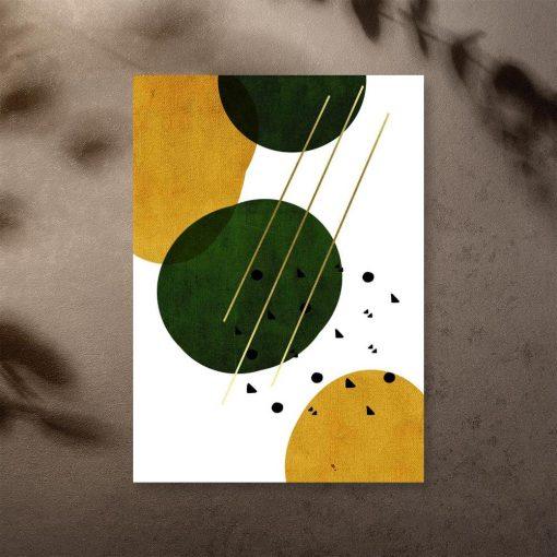plakat z kolistą abstrakcją