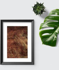 Plakat z motywem brązowej abstrakcji